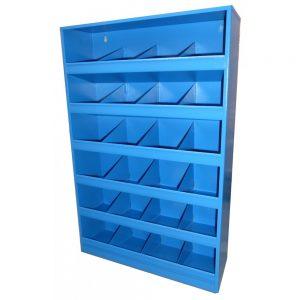 Meuble 24 casiers métal -Bleu-