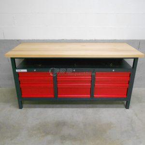 Établi d'atelier PRO 1700mm -9 tiroirs