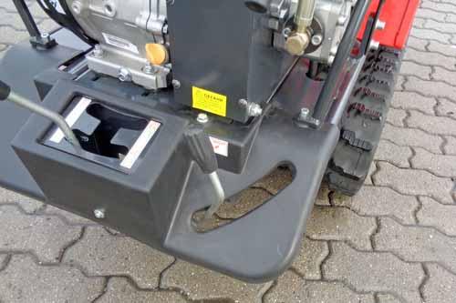 Brouette à chenilles basculement hydraulique 500 kg - boite Japan - Benne TP