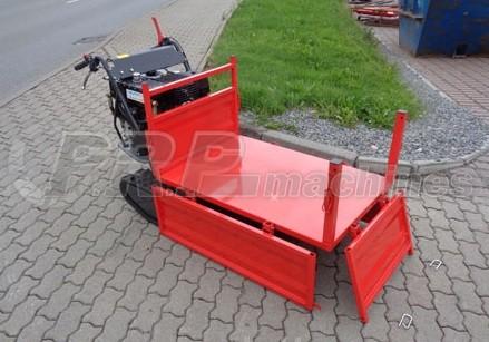 Brouette a chenilles plateau basculement hydraulique 500 kg - 9cv 270cc