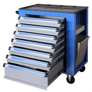 Servante d'atelier - 7 tiroirs - 3 accessoires