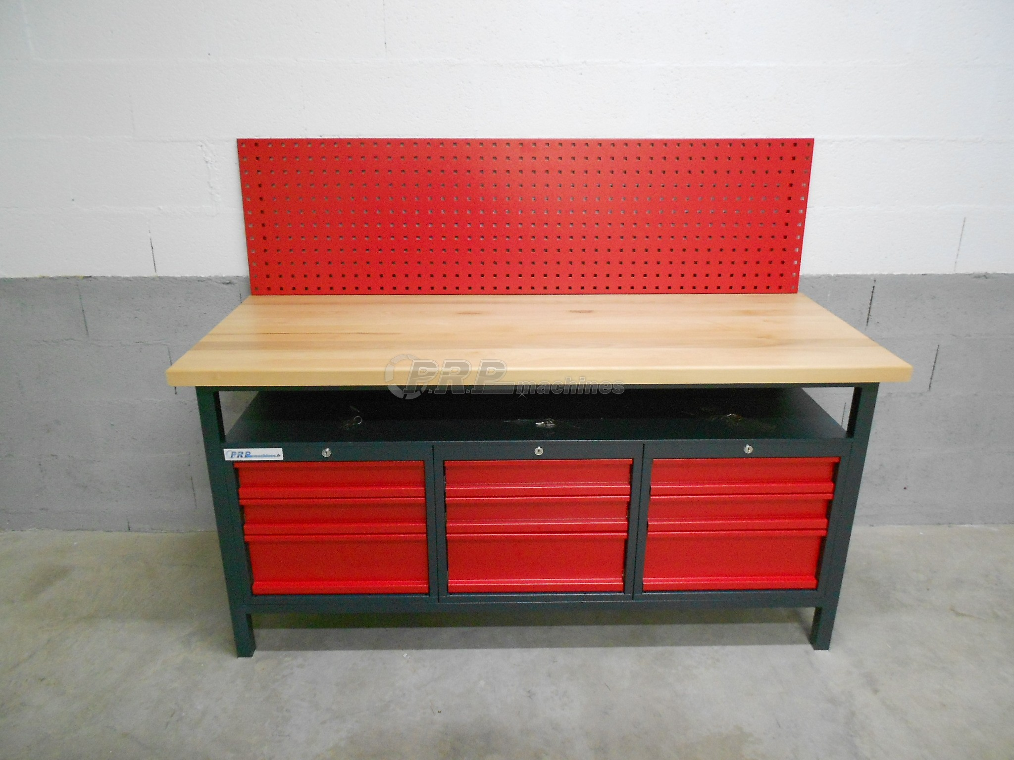 tabli d 39 atelier pro 1700mm 9 tiroirs 3. Black Bedroom Furniture Sets. Home Design Ideas