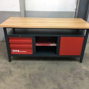 Établi d'atelier PRO 1700mm 1 porte 3 tiroirs 1 casier