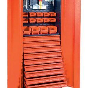 Armoire d'atelier 2 portes - 9 tiroirs